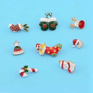 P-0378 3 Styles Christmas Enamel Charm Brooches for Men&Women Jewelry