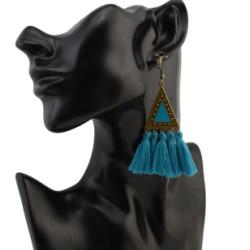 E-4303 5 colors  Vintage Bohemian Thread Tassel Drop Earring for Women Earring