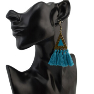 E-4303 5 colors  Vintage Bohemian Thread Tassel Drop Earring for Women Earring