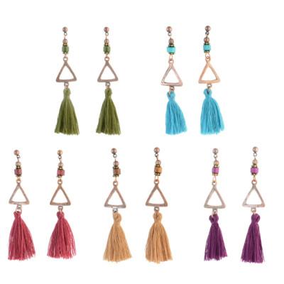E-4305 Vintage Tassel  Charm  Drop tassel  Earring for Women Jewelry