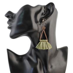 E-4308 3 colors  Vintage Bohemian Thread Tassel Drop Earring for Women Earring