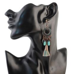 E-4310 2 Style Vintage Bohemian  Bead Tassel Drop Earring for Women Earring