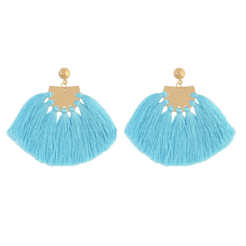E-4318 4 Colors Gold Plated Alloy thread Drop Dangle Earrings Jewelry