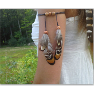B-0862 New Arrival European Feather Beads Armlet For Women Jewelry