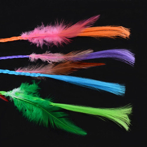 F-0462 Fashion Handmade weaving Ethnic Gypsy Rope Colorful  Feather Hairbands Hairband Hair Accessory