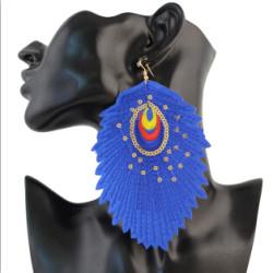 E-4323 Bohemian Vintage  Leaf-shaped Earrings for Women Jewelry
