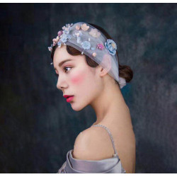 F-0467 Fashion Bridal Veils Crystal Pearl Flower Handmade Hairclip Hair Clips for Women Hair Accessory Jewelry