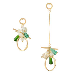 E-4329 New F ashion Jewelry Gold Plated Alloy Crystal Bead Drop Dangle Earrings