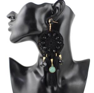E-4328 Bohemian Alloy thread Tassel Drop Dangle Earrings Jewelry
