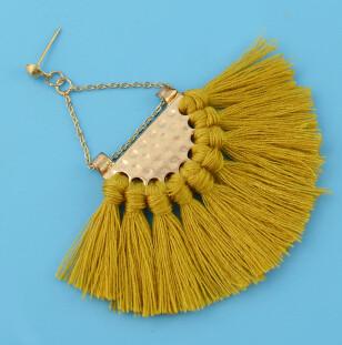 E-4337 Bohemian Vintage Tassel Fan-shaped Earrings for Women Jewelry