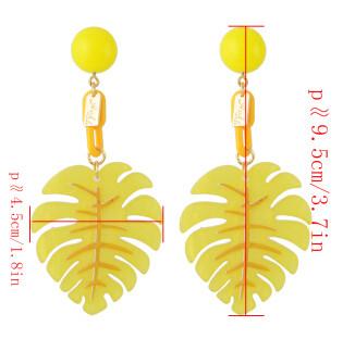 E-4339 Vintage Beads Tree Shape  Dangle Earrings For Women