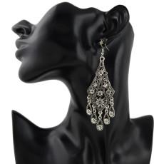 E-4349 Fashion Gold Silver plated Hook Bohemian Vintage Tassel Alloy Earring for Women Jewelry