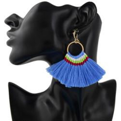 E-4359 Ethnic Handmade Thread Tassel Drop Earrings for Women Bohemian Fashion Jewelry Accessories