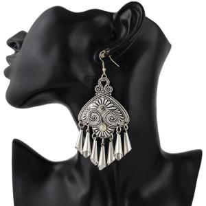 E-4362 Fashion Vintage Hook Bohemian Crystal Tassel Earring for Women Jewelry