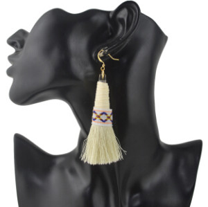 E-4368 New Fashion 6 Colors Metal  Alloy Colorful thread Tassel Pendant earrings For Women Jewelry