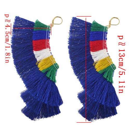 E-4367 New Arrival Bohemian Hook Pendant Tassel Earring for Women Jewelry