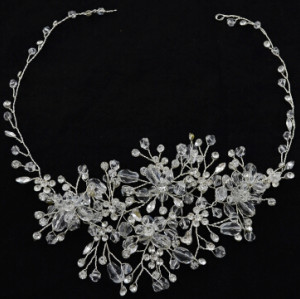 F-0465 Fashion Silver Alloy Bridal Rhinestone Crystal Headband Wedding Headpieces Hair Accessories