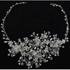 F-0465 * Fashion Silver Alloy Bridal Rhinestone Crystal Headband Wedding Headpieces Hair Accessories