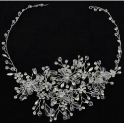 F-0465 Fashion Silver Alloy Bridal Rhinestone Crystal Headband Wedding Headpieces Hair Accessories
