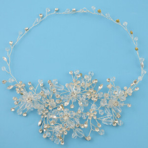 F-0465 * Fashion Silver Alloy Bridal Rhinestone Crystal Headband Wedding Headpieces Hair Accessories