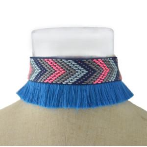 N-6952 Handmade Bohemia Choker Necklace Tassel Pendant Ethnic Collar Choker Necklace For Women