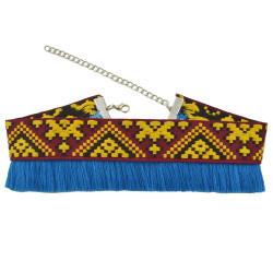N-6955 New Fashion  Handmade Tassel Pendant Ethnic Collar Choker Necklace For Women