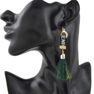 E-4390 New Fashion 1 Colors Metal  Alloy  thread Tassel Pendant earrings For Women Jewelry