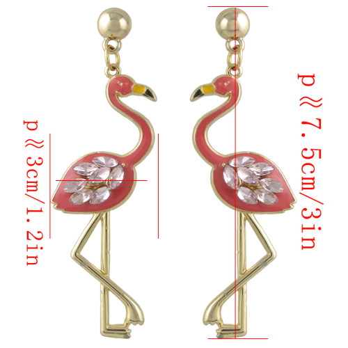 E-4393 Fashion New Arrival Swan shape Crystal Charm Enamel Luxury Earring for Women Pendant Earring