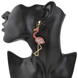 E-4393 Fashion New Arrival Swan shape Crystal Charm Enamel Luxury Earring for Women Pendant Earring