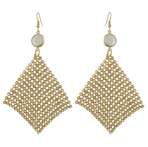 E-4392 New Fashion Bohemian Gold Silver Plated Hollow out Crystal Rhinestone pendant earrings