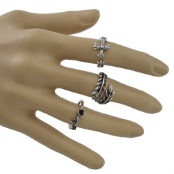 R-1493 New Fashion 5Pcs/Set Bohemain Silver plated Midi Finger Rings for Women Jewelry