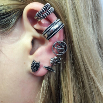 E-4402  3 Styles Punk Bohemian Shell Stud Cuff Earrings for Women Party Fashion Accessories