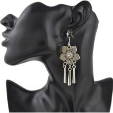 E-4413 2 style Fashion Vintage Hook Bohemian Carving Flower Tassel Earring for Women Jewelry