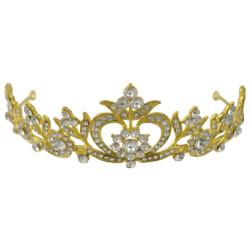 F-0473 Luxury Rhinestone Gold Queen Crown Bridal Headpiece Wedding Hair Accessories