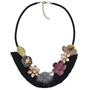 N-6962 Fashion Multilayer tassel Pearl Pendant Flower Shape Necklaces for Women Bohemian Party Jewelry