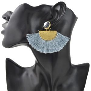 E-4418 3 Colors Bohemian Gold Plated Crystal Long thread Tassel Drop Earrings Jewelry