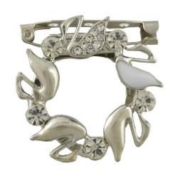 P-0390 Fashion Gold Silver Plated Alloy Crystal Rhinestone Scarf Buckle Brooch Accessory Women's Wedding Gift