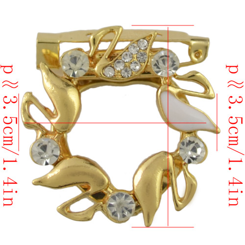P-0390 Fashion Gold Silver Plated Alloy Crystal Rhinestone Scarf Buckle Brooch Accessory Women's Wedding Gift