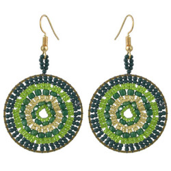 E-4433 5 Colors Bohemian  Gold Plated Round Earrings for Women Wedding Party Accessories