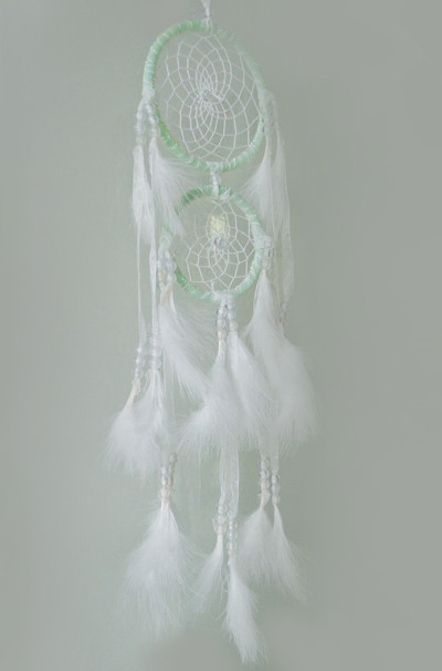 N-6967 New Fashion Dreamcatcher Gift Handmade Dream Catcher Net With Chiffon Woolen Bead Feathers Pendant  Wall Hanging Decoration Ornament