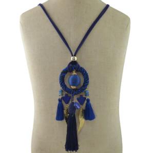 N-6973 6 Colors Fashion Pendant Dangle Pom pom Bead Tassel Earring for Women Jewelry
