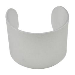 B-0872 Fashion Silver Aluminium Solid Bangle Bracelet For Women's Engagement Gift