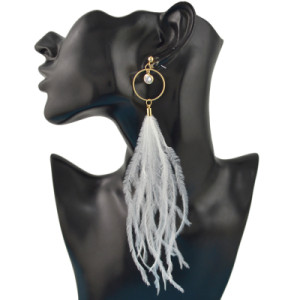 E-4435 3Colors 3 Styles Bohemian Gold Plated Stud Rhinestone Crystal Feather Pendant Metal Tassel Dangle Drop Earrings for Women Fashion Wedding Party Accessories