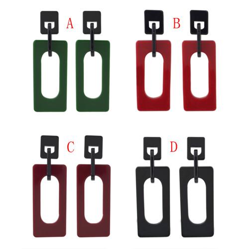 E-4432 4 Colors  Hot Women Acrylic Thread Tassel Long Drop Earrings Jewelry