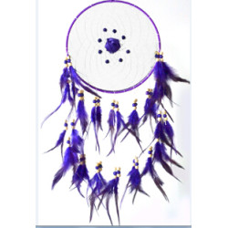 N-6968 Dream Catchers Handmade Wooden Beaded Fumigated Feathers Big Dream Catcher Pendant Home Wall Hanging Decor (long 29.5in)