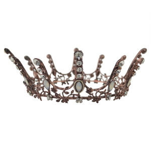 F-0474 Wedding Bridal Handmade Flower Hair Clip Crystal King Queen Crown Headband Accessories