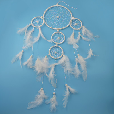 N-6970 New Fashion White Spider web Shape  feather Bead pendant decoration Jewelry