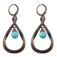 E-4447 Retro Exaggerated Turquoise Earrings Geometric Carved Palace Earring Irregular Drop Dangle Earrings 6 Styles
