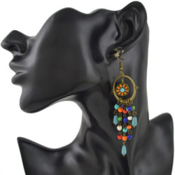 E-4454 3 Styles Bohemian VintageTasse Beads Long Drop Earrings Wedding Party Fashion Jewelry