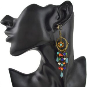 E-4454 3 Styles Bohemian VintageTasse Beads Long Drop Earrings Wedding Party Fashion Jewelry